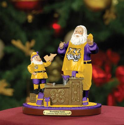 LSU Tigers Workshop Santa With Free Ornament
