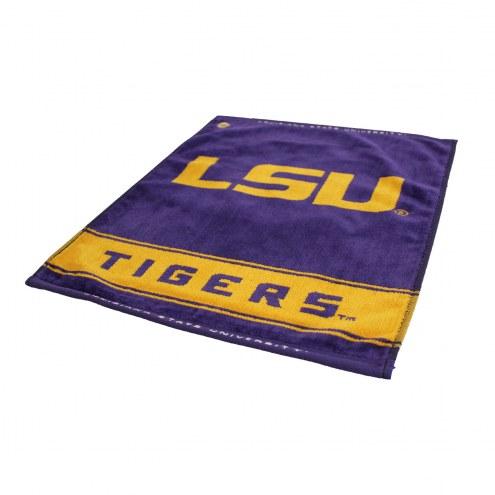 LSU Tigers Woven Golf Towel