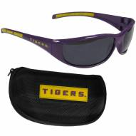 LSU Tigers Wrap Sunglasses and Case Set