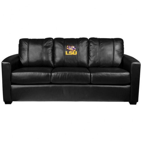 LSU Tigers XZipit Silver Sofa