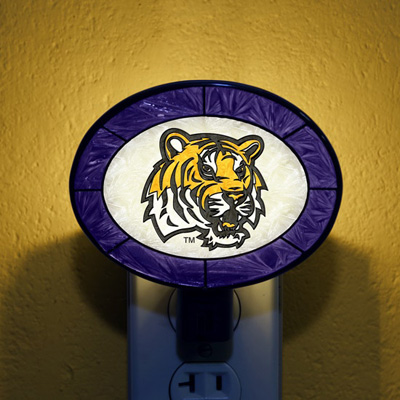 LSU Tigers NCAA Stained Glass Night Light