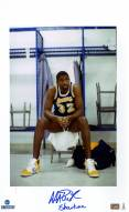 """Magic Johnson Signed Sitting In Locker Room Vertical 10x20 Photo w/ """"Show Time"""""""