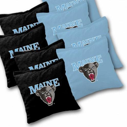 Maine Black Bears Cornhole Bags