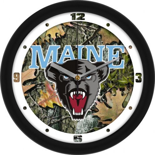 Maine Black Bears Camo Wall Clock