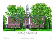 Maine Black Bears Campus Images Lithograph