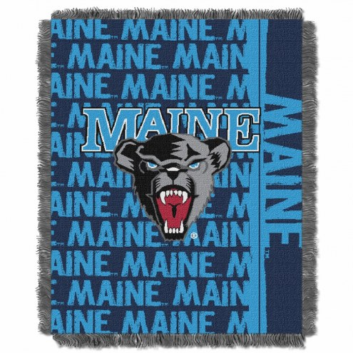 Maine Black Bears Double Play Woven Throw Blanket