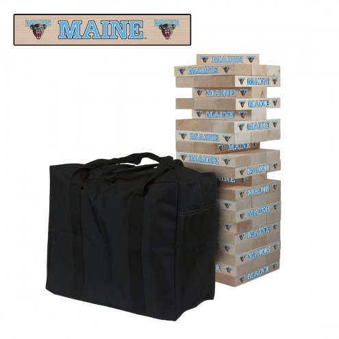 Maine Black Bears Giant Wooden Tumble Tower Game