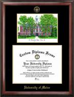 Maine Black Bears Gold Embossed Diploma Frame with Lithograph