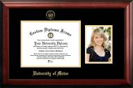 Maine Black Bears Gold Embossed Diploma Frame with Portrait