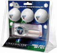 Maine Black Bears Golf Ball Gift Pack with Kool Tool