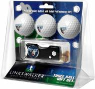 Maine Black Bears Golf Ball Gift Pack with Spring Action Divot Tool