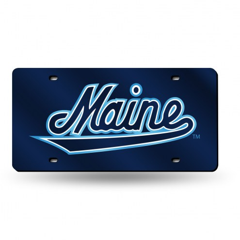 Maine Black Bears Laser Cut License Plate
