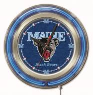 Maine Black Bears Neon Clock