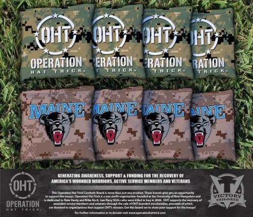 Maine Black Bears Operation Hat Trick Cornhole Bag Set