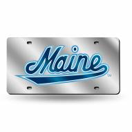Maine Black Bears Silver Laser Cut License Plate