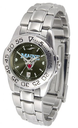 Maine Black Bears Sport Steel AnoChrome Women's Watch