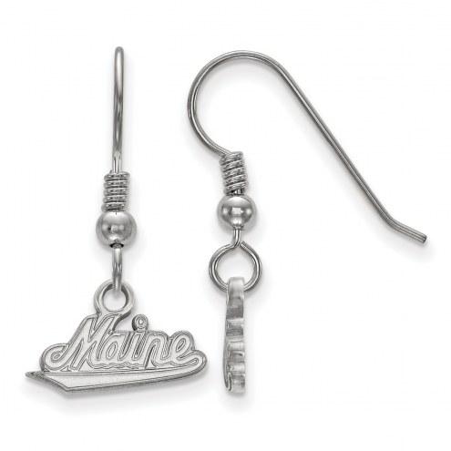 Maine Black Bears Sterling Silver Small Dangle Earrings