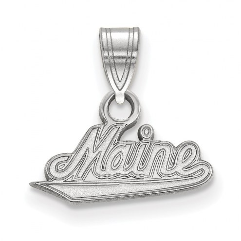 Maine Black Bears Sterling Silver Small Pendant