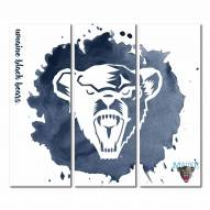 Maine Black Bears Triptych Watercolor Canvas Wall Art