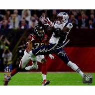 Malcolm Mitchell Signed Super Bowl 51 Action Horizontal 8 x 10 Photo