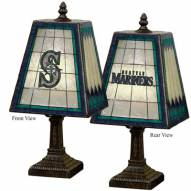 Seattle Mariners MLB Hand-Painted Art Glass Table Lamp
