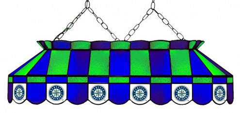 """Seattle Mariners MLB Team 40"""" Rectangular Stained Glass Shade"""