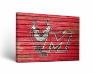 Marist Red Foxes Weathered Canvas Wall Art