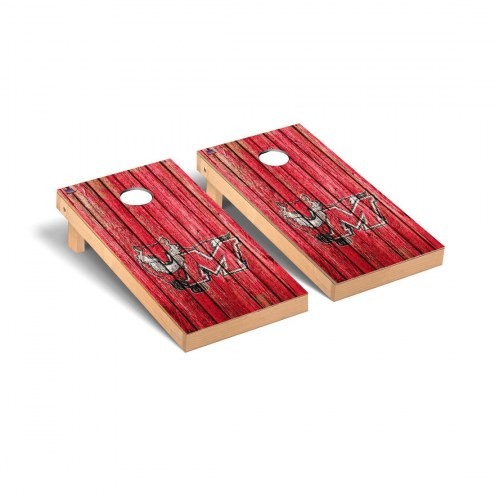 Marist Red Foxes Weathered Cornhole Game Set