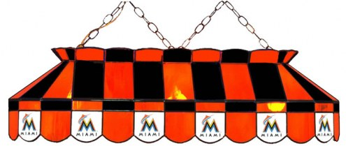 "Florida Marlins MLB Team 40"" Rectangular Stained Glass Shade"
