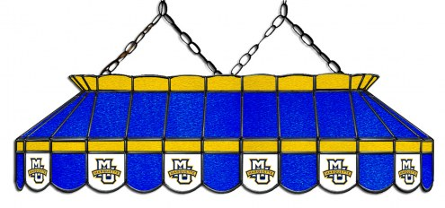 """Marquette Golden Eagles 40"""" Stained Glass Pool Table Light"""