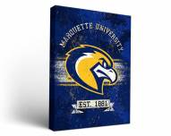 Marquette Golden Eagles Banner Canvas Wall Art