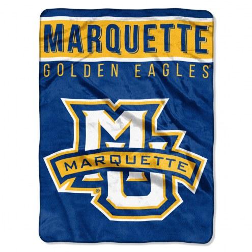 Marquette Golden Eagles Basic Plush Raschel Blanket