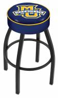 Marquette Golden Eagles Black Base Swivel Bar Stool