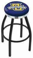 Marquette Golden Eagles Black Swivel Barstool with Chrome Accent Ring