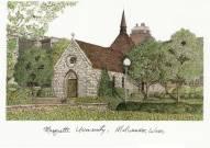 Marquette Golden Eagles Campus Images Lithograph