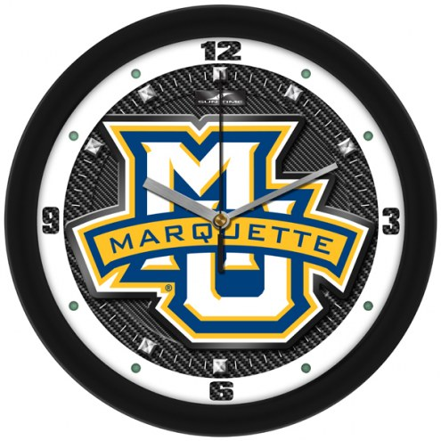 Marquette Golden Eagles Carbon Fiber Wall Clock
