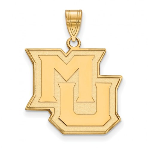 Marquette Golden Eagles College Sterling Silver Gold Plated Large Pendant