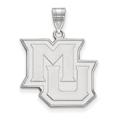 Marquette Golden Eagles Sterling Silver Large Pendant
