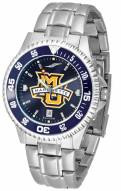 Marquette Golden Eagles Competitor Steel AnoChrome Color Bezel Men's Watch