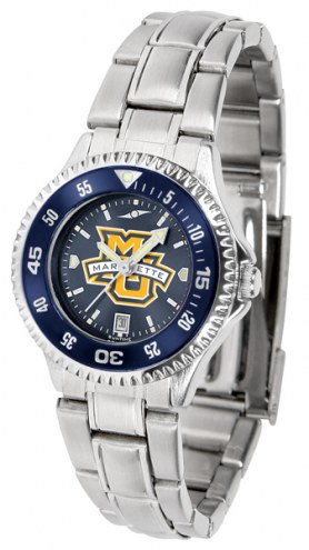 Marquette Golden Eagles Competitor Steel AnoChrome Women's Watch - Color Bezel