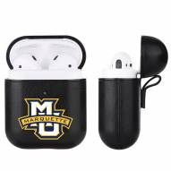 Marquette Golden Eagles Fan Brander Apple Air Pods Leather Case