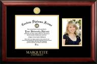 Marquette Golden Eagles Gold Embossed Diploma Frame with Portrait