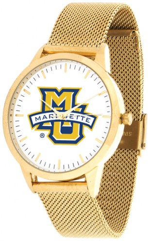 Marquette Golden Eagles Gold Mesh Statement Watch