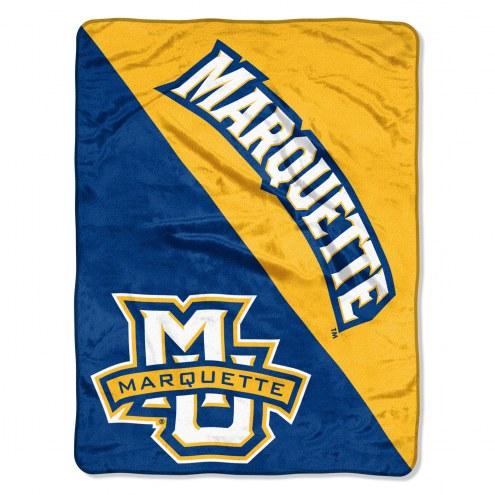 Marquette Golden Eagles Halftone Raschel Blanket