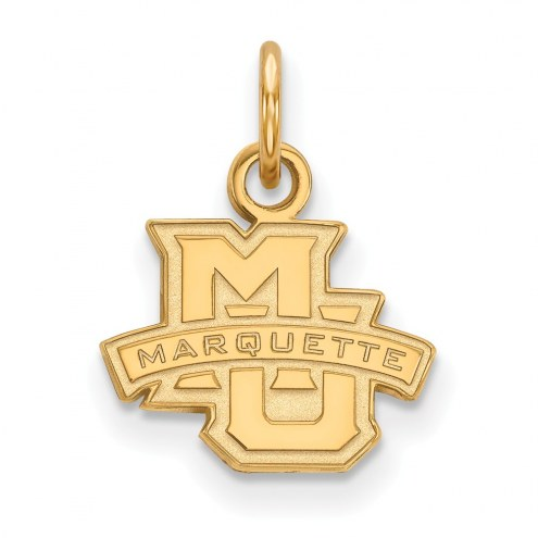 Marquette Golden Eagles NCAA Sterling Silver Gold Plated Extra Small Pendant
