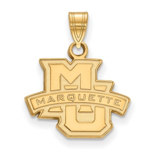 Marquette Golden Eagles NCAA Sterling Silver Gold Plated Small Pendant