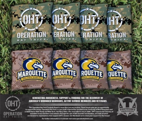 Marquette Golden Eagles Operation Hat Trick Cornhole Bag Set
