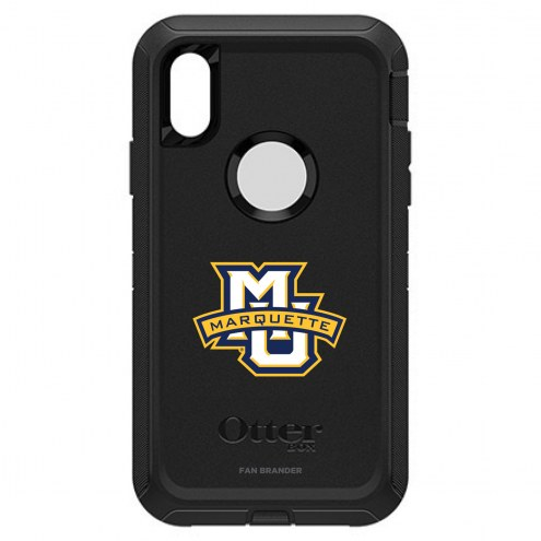 Marquette Golden Eagles OtterBox iPhone XR Defender Black Case