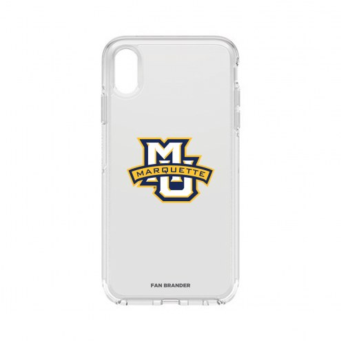 Marquette Golden Eagles OtterBox iPhone XS Max Symmetry Clear Case