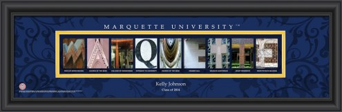 Marquette Golden Eagles Personalized Campus Letter Art